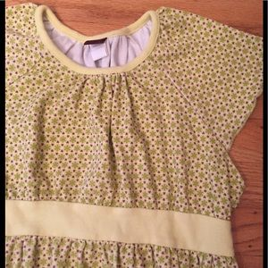 Tea Collection yellow dress sz 8 great detail nice